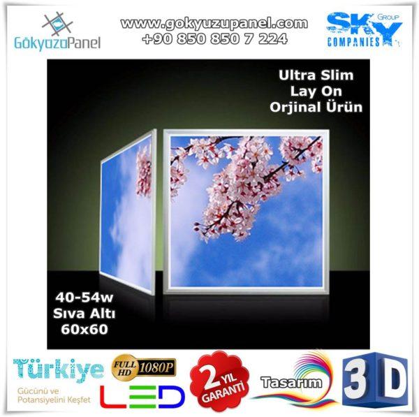 60x60 Gökyüzü Panel Sıva Altı Slim