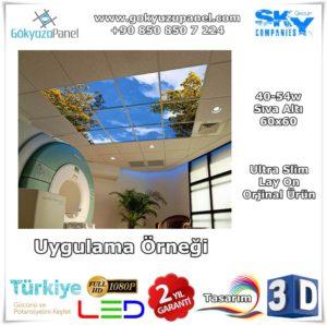 60x60 Gökyüzü Panel Sıva Altı Slim Uygulama Örneği