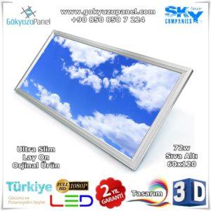60x120 Gökyüzü Panel Sıva Altı Slim