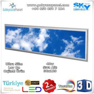 30x120 Gökyüzü Panel Sıva Altı Slim