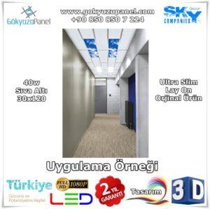 30x120 Gökyüzü Panel Sıva Altı Slim Uygulama Örneği