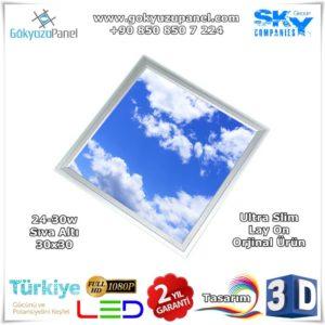 30x30 Gökyüzü Panel Sıva Altı Slim