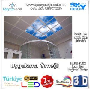 30x30 Gökyüzü Panel Sıva Altı Slim Uygulama Örneği
