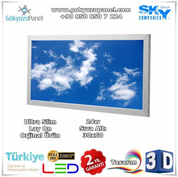 30x60 Gökyüzü Panel Sıva Altı Slim