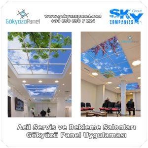 Acil Servis ve Bekleme Salonları Gökyüzü Panel Uygulaması