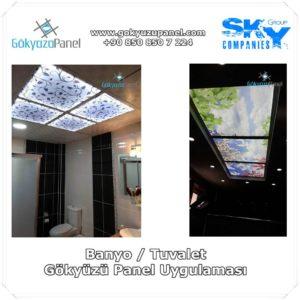 Banyo Tuvalet Gökyüzü Panel Uygulaması