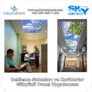 Bekleme Salonları ve Koridorlar Gökyüzü Panel Uygulaması