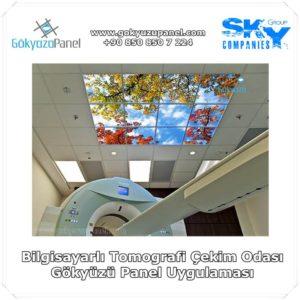 Bilgisayarlı Tomografi Çekim Odası Gökyüzü Panel Uygulaması