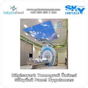 Bilgisayarlı Tomografi Ünitesi Gökyüzü Panel Uygulaması