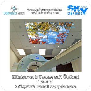 Bilgisayarlı Tomografi Ünitesi Tavanı Gökyüzü Panel Uygulaması