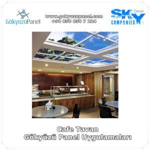 Cafe Tavan Gökyüzü Panel Uygulamaları