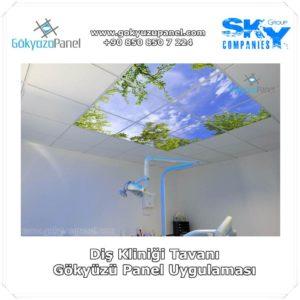 Diş Kliniği Tavanı Gökyüzü Panel Uygulaması 2