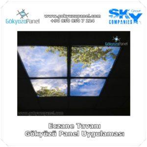 Eczane Tavanı Gökyüzü Panel Uygulaması