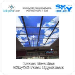 Eczane Tavanları Gökyüzü Panel Uygulaması 2