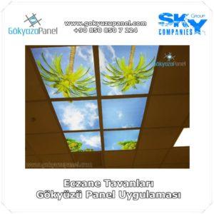 Eczane Tavanları Gökyüzü Panel Uygulaması
