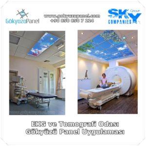 EKG ve Tomografi Odası Gökyüzü Panel Uygulaması