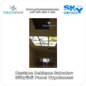Hastane Bekleme Salonları Gökyüzü Panel Uygulaması