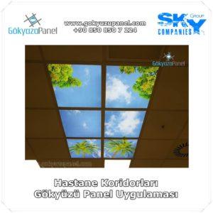 Hastane Koridorları Gökyüzü Panel Uygulaması