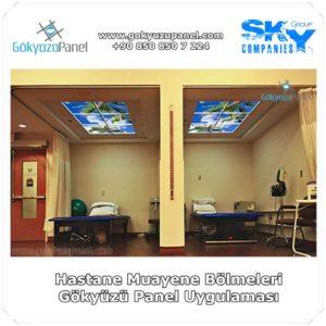 Hastane Muayene Bölmeleri Gökyüzü Panel Uygulaması