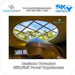 Hastane Tavanları Gökyüzü Panel Uygulaması 2