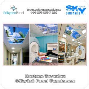Hastane Tavanları Gökyüzü Panel Uygulaması