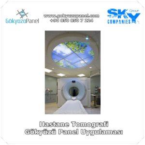 Hastane Tomografi Gökyüzü Panel Uygulaması