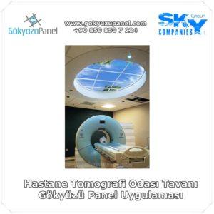 Hastane Tomografi Odası Tavanı Gökyüzü Panel Uygulaması
