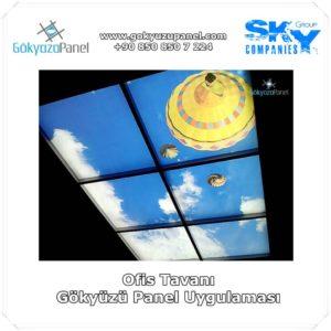 Ofis Tavanı Gökyüzü Panel Uygulaması