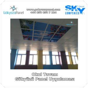 Okul Tavanı Gökyüzü Panel Uygulaması