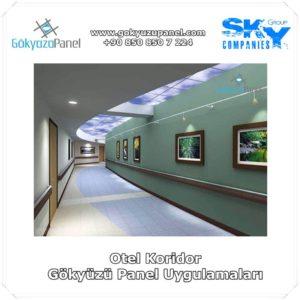 Otel Koridor Gökyüzü Panel Uygulamaları