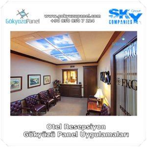 Otel Resepsiyon Gökyüzü Panel Uygulamaları