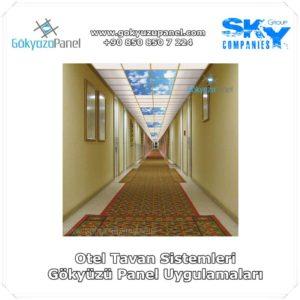 Otel Tavan Sistemleri Gökyüzü Panel Uygulamaları
