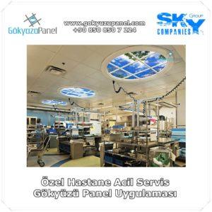 Özel Hastane Acil Servis Gökyüzü Panel Uygulaması