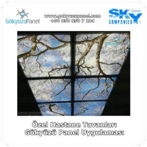 Özel Hastane Tavanları Gökyüzü Panel Uygulaması