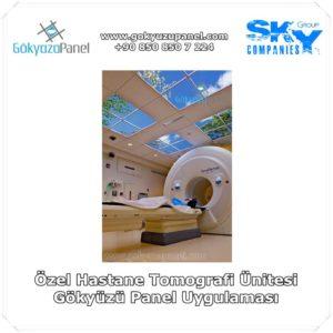 Özel Hastane Tomografi Ünitesi Gökyüzü Panel Uygulaması