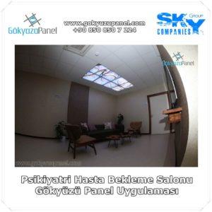 Psikiyatri Hasta Bekleme Salonu Gökyüzü Panel Uygulaması