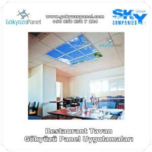Restaurant tavan Gökyüzü Panel Uygulamaları