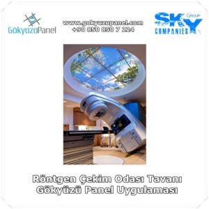 Röntgen Çekim Odası Tavanı Gökyüzü Panel Uygulaması