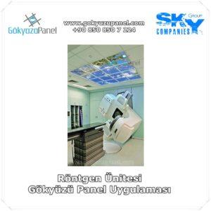 Röntgen Ünitesi Gökyüzü Panel Uygulaması