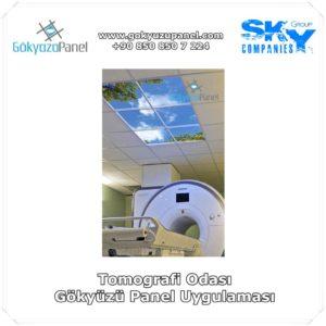 Tomografi Odası Gökyüzü Panel Uygulaması