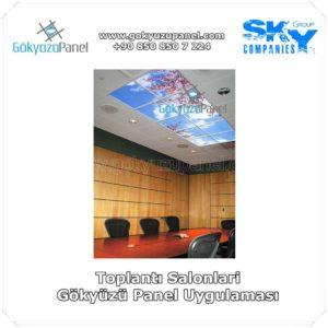 Toplantı Salonları Gökyüzü Panel Uygulaması