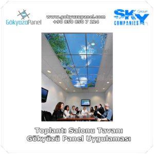 Toplantı Salonu Tavanı Gökyüzü Panel Uygulaması