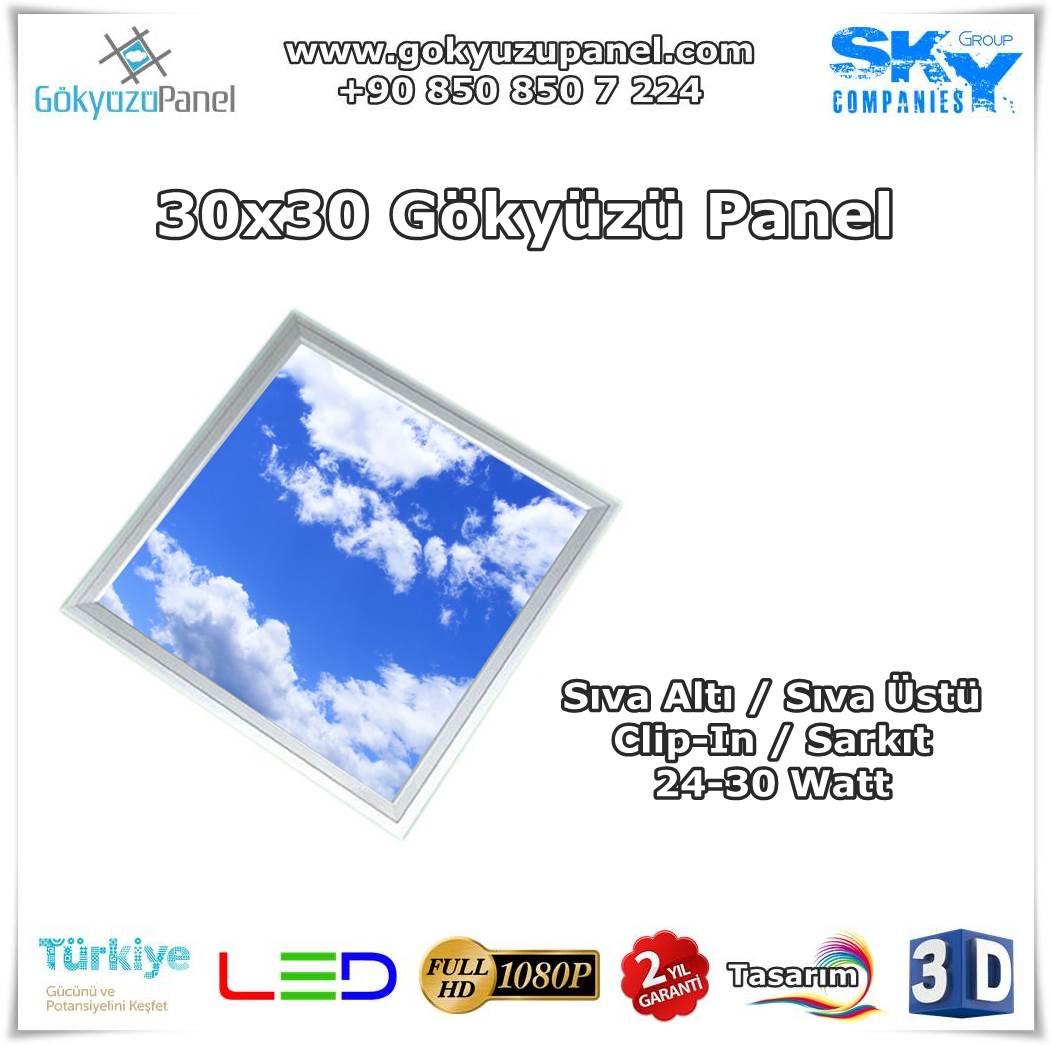 30x30 Gökyüzü Panel
