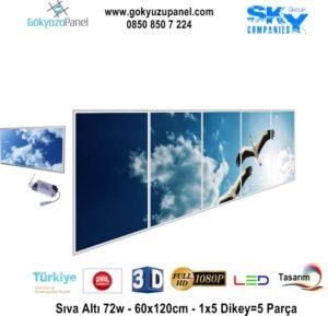 60x120 Gökyüzü Panel 1x5 Dikey