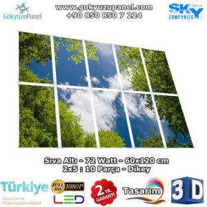 60x120 Gökyüzü Panel 2x5 Dikey