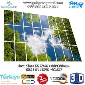 60x120 Gökyüzü Panel 3x8 Dikey