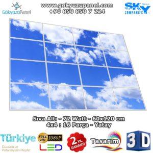 60x120 Gökyüzü Panel 4x4 Yatay