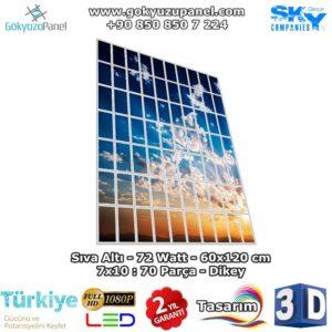 60x120 Gökyüzü Panel 7x10 Dikey