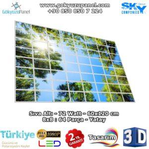 60x120 Gökyüzü Panel 8x8 Yatay