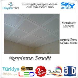 60x60 Alüminyum Asma Tavan Paneli Uygulama Örneği